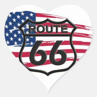 América rota 66 adesivos de corações