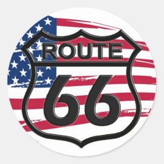 América rota 66 adesivos em formato redondos