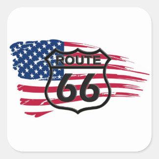 América rota 66 adesivos quadrados