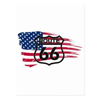 América rota 66 cartão postal