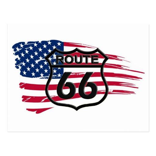 América rota 66 cartao postal