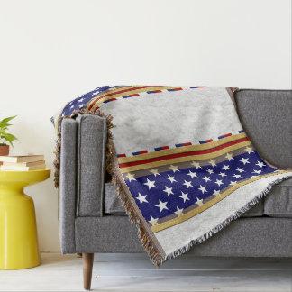 América Stars a cobertura branca azul do lance Cobertor