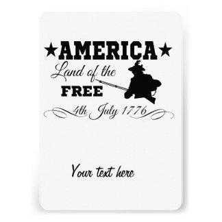América - terra do livre convites personalizados
