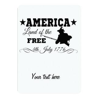 América - terra do livre convite 12.7 x 17.78cm