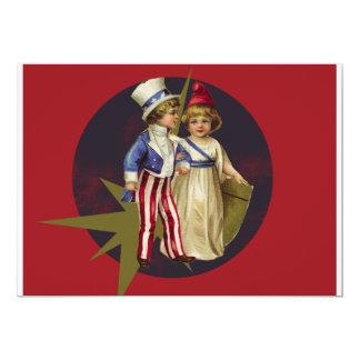 Americana do vintage convite 12.7 x 17.78cm