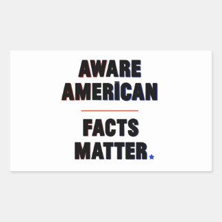 Americano ciente. Matéria dos fatos. Etiquetas