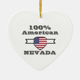 Americano de 100%, Nevada Ornamento De Cerâmica Coração