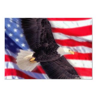 Americano Eagle & convite da bandeira Convite 8.89 X 12.7cm