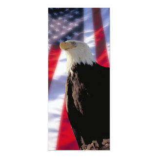 Americano Eagle & convite da bandeira Convite 10.16 X 23.49cm