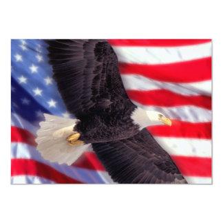 Americano Eagle & convite da bandeira Convite 11.30 X 15.87cm