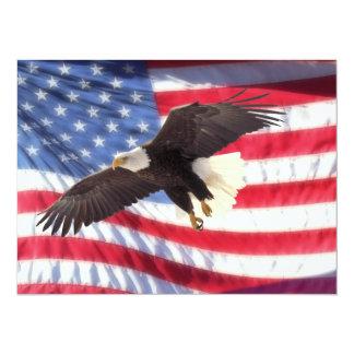 Americano Eagle & convite da bandeira americana Convite 13.97 X 19.05cm