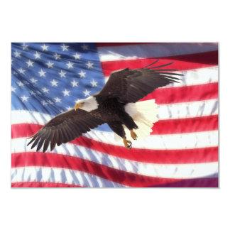 Americano Eagle & convite da bandeira americana