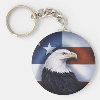 Americano Eagle e bandeira Chaveiro
