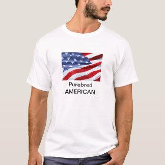 Americano engraçado do puro-sangue t-shirts