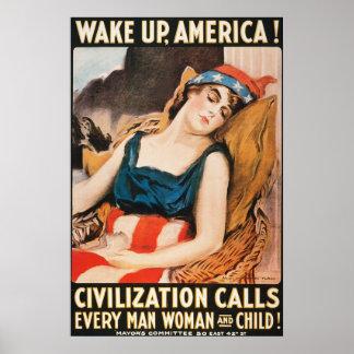Americano histórico póster