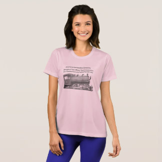 Americano Locomotiva Empresa mulheres de 0-4-0 T Camiseta