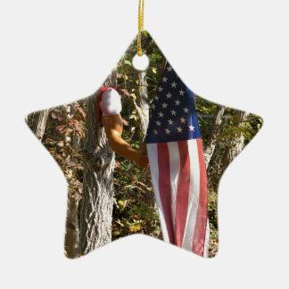 Americano referente à cultura norte-americana do ornamento de cerâmica estrela