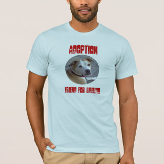 Amigo da adopção A de Pitbull para a vida Camiseta