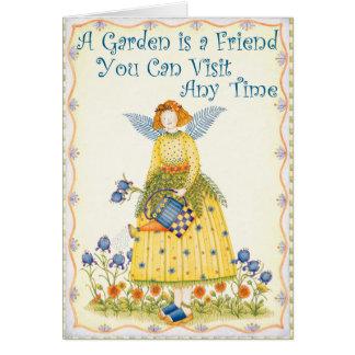 Amigo do jardim - cartão