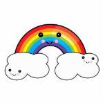 amigos do arco-íris e da nuvem foto escultura
