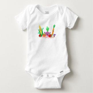 Amigos do vegetariano para o Bodysuit do bebê Body Para Bebê