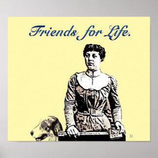 Amigos para o pop art do poster da vida