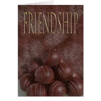 Amizade para o chocoholic cartão comemorativo