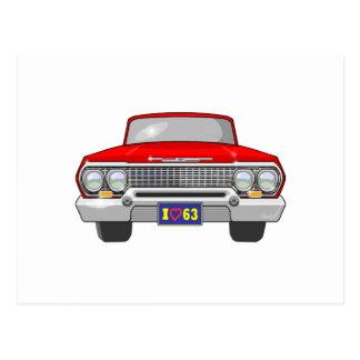 Amor 1963 de I Chevrolet Cartão Postal