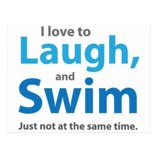 Amor a rir e nadar cartão postal
