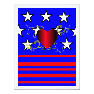 Amor América - convite Convite 10.79 X 13.97cm