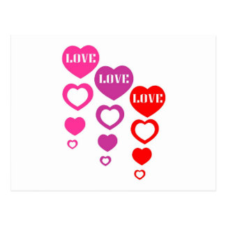 Amor, amor, amor cartão postal