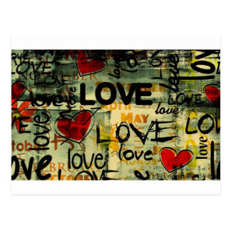 Amor Amor Amor Love Love Love Cartão Postal