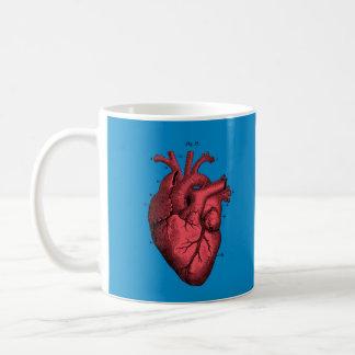 Amor anatômico do dia dos namorados do coração do caneca de café