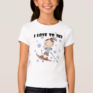 Amor ao esqui - camiseta e presentes da menina