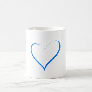 Amor azul do coração caneca