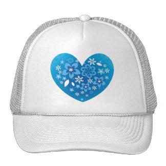 Amor azul do coração boné