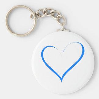 Amor azul do coração chaveiro