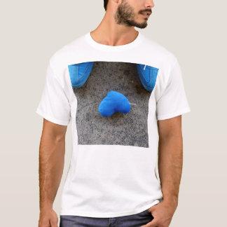 Amor azul do coração tshirt