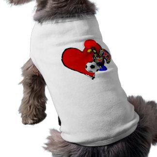 Amor, Barcelos, é Maravilhoso de Futebol - de Deus Camisa Sem Mangas Para Cachorro