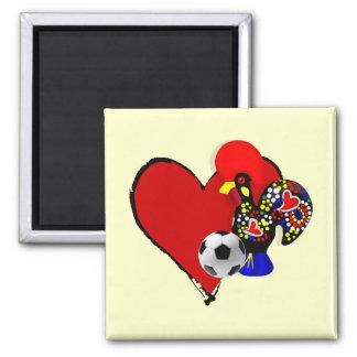 Amor, Barcelos, é Maravilhoso de Futebol - de Deus Ímã Quadrado