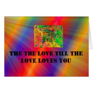 amor bonito cartão comemorativo