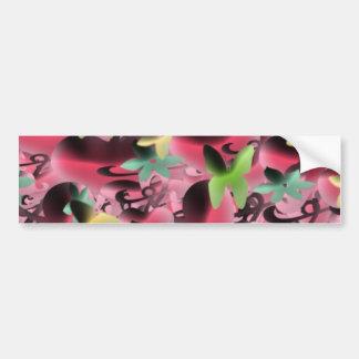 Amor & borboletas no roxo cor-de-rosa adesivo para carro