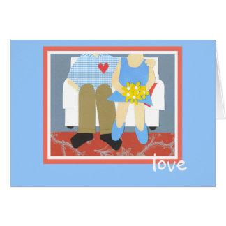 amor cartão de nota