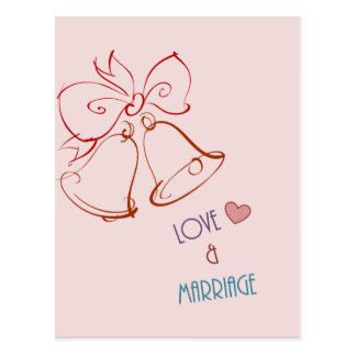 Amor & casamento cartão postal