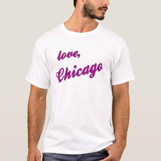 Amor, Chicago - cinza fêmea Camiseta
