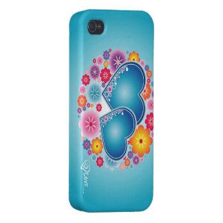 amor colorido com corações e flores capas iPhone 4