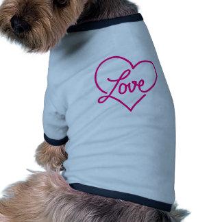 Amor, coração cor-de-rosa roupas para caes