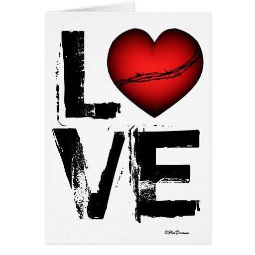 AMOR - coração dos espinhos - cartão do dia dos na