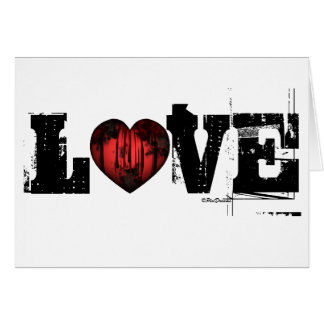 AMOR - coração gótico - cartão do dia dos