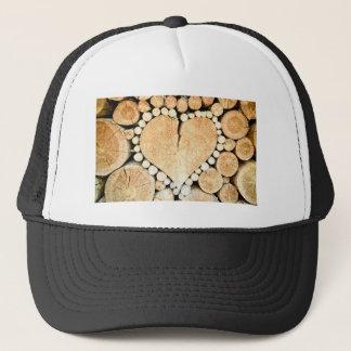 Amor, coração, romance, mosaico de madeira boné